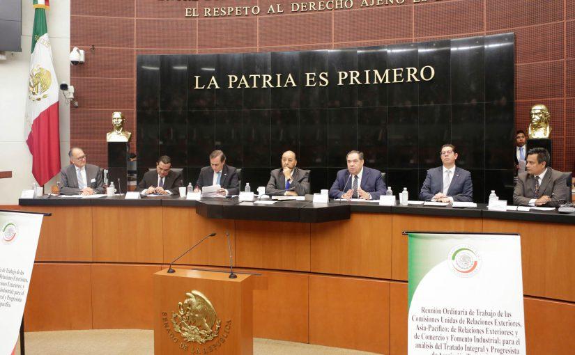 Con el CPTPP México tiene la posibilidad de estar a la vanguardia comercial, señalan en el Senado